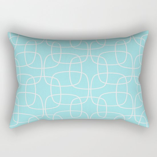 Square Pattern Mint Rectangular Pillow