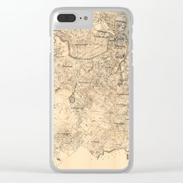 Map of the City of Boston and Vicinity (1907) Clear iPhone Case