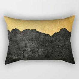Black Grunge & Gold texture Rectangular Pillow
