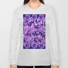 LILAC PURPLE SPRING PHLOX FLOWERS CARPET Long Sleeve T-shirt