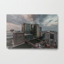 London, Canary Wharf from above Metal Print
