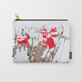 Sleds in the Snow Carry-All Pouch