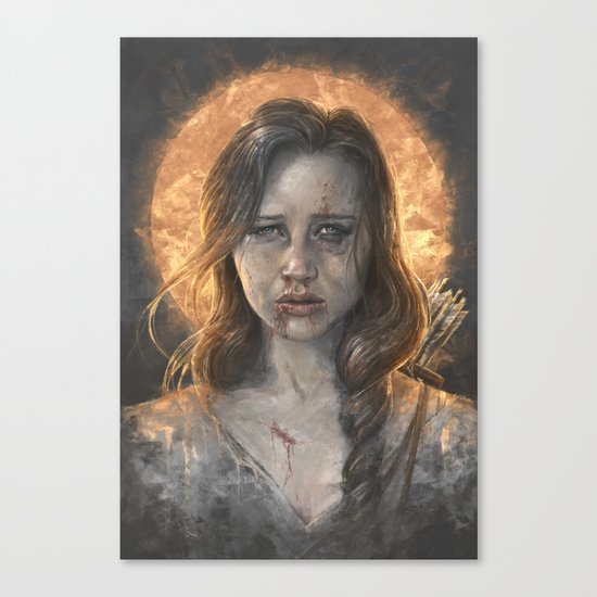 Katniss Canvas Print