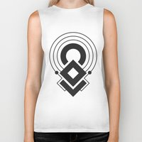 sacred geometry Biker Tanks featuring Sacred Geometry I by melonweed
