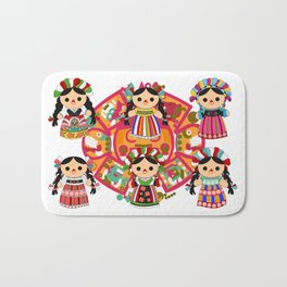 Mexican Dolls Bath Mat