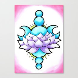 Lotus Moon Canvas Print