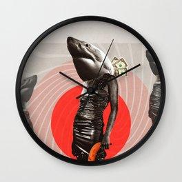 Hai Life mit Banane Wall Clock