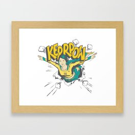 Sam KERR-POW! Framed Art Print