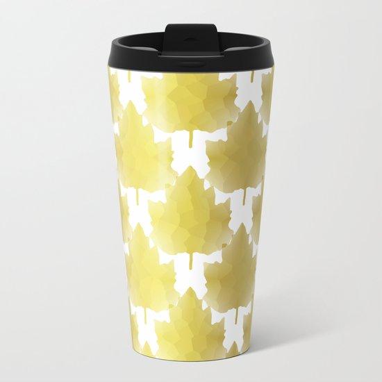 Golden Maple Leaves Metal Travel Mug