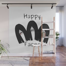 Happy faces Wall Mural
