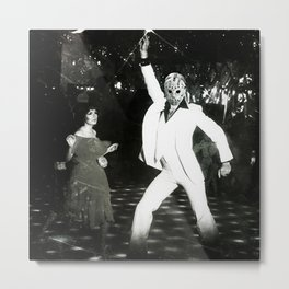 JASON VORHEES AS JOHN TRAVOLTA Metal Print