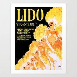 Vintage poster - Lido Art Print