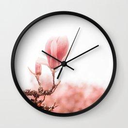 spring magnolia tree Wall Clock