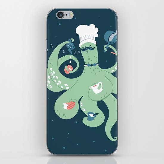The Octopus Chef iPhone & iPod Skin