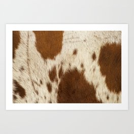 Pattern of a Longhorn bull cowhide. Art Print