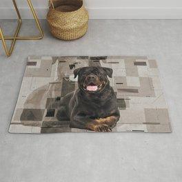 Rottweiler  - Metzgerhund Digital Art Rug