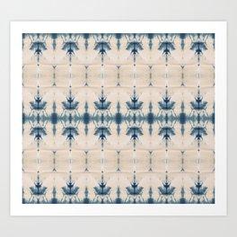 Royal Shibori Art Print
