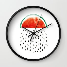 watermelon rain Wall Clock