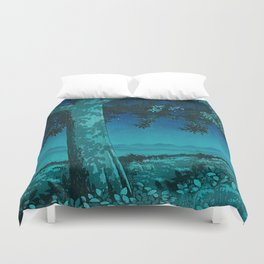 Nightime in Gissei Duvet Cover