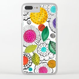 Floral Fun Clear iPhone Case