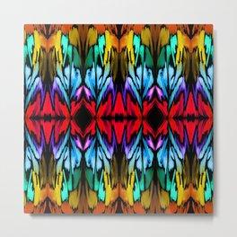 Parrot Patterns Metal Print