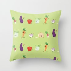 Veggie Panic Throw Pillow