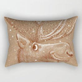 Moose Christmas Rectangular Pillow