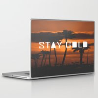 stay gold Laptop & iPad Skins featuring Stay Gold by Trash Apparel