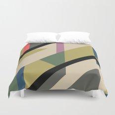 Modernist Dazzle Ship Camouflage Design Duvet Cover