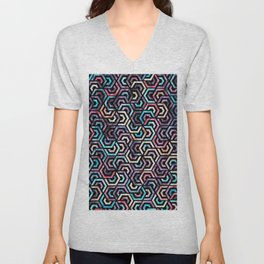 Seamless Colorful Geometric Pattern XXII Unisex V-Neck