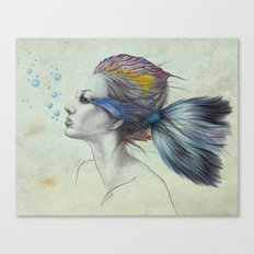 When I was a fish | textured Canvas Print