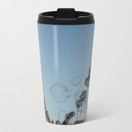 Bubbles & Palm Trees Metal Travel Mug