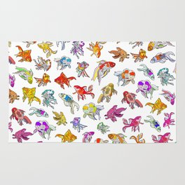 Aquarium Gold Fish Series Rug