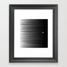 Escaping Triangle Framed Art Print