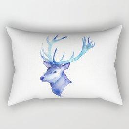 Blue Antlers Rectangular Pillow