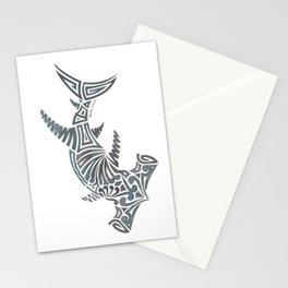 Tribal Hammerhead Shark Stationery Cards