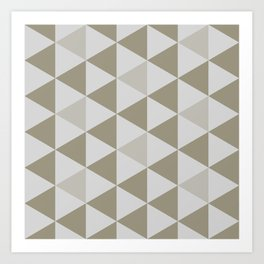 Great Triangle Pattern Art Print