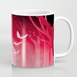 Dark Forest at Dawn in Ruby Coffee Mug