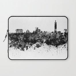 Taipei skyline in black watercolor Laptop Sleeve