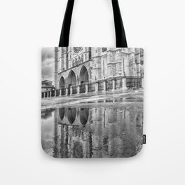 Leon Cathedral Reflection Tote Bag