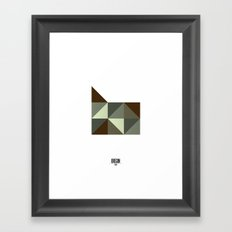 Geometric Oregon Framed Art Print