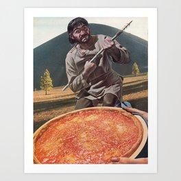 Pizza Hunter Art Print