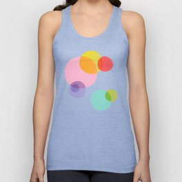 Rainbow Bubbles Unisex Tank Top