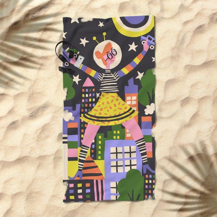 Girl Power Beach Towel