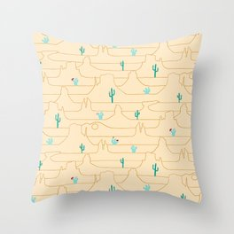 The Call of the Desert Throw Pillow