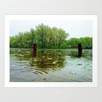 Rainy Day at the Lake Art Print