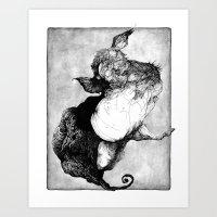 Conqueror Hippocampus Art Print