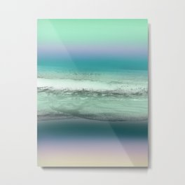 Twilight Sea in Shades of Green and Lavender Metal Print