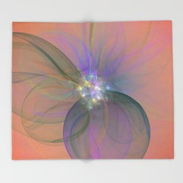 Fairy Blossom Fractal Throw Blanket