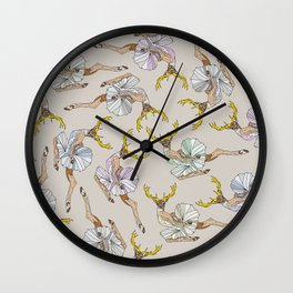 Dancing Reindeers Wall Clock